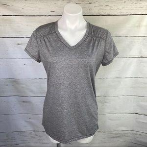 Danskin Now Semi Fitted V Neck Short Sleeve Shirt